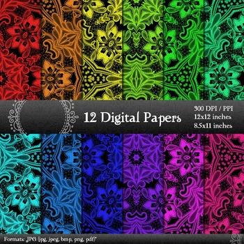 Scrapbook Texture  Decoration Art Kit Printable Instant Do