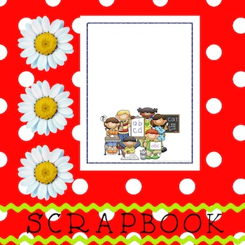 Scrapbook - Yearbook Cover Page: Alphabet Kids