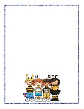 Scrapbook - Yearbook Cover Page: Bees