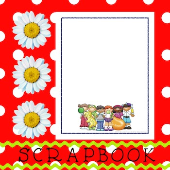 Scrapbook - Yearbook Cover Page: Candy Kids