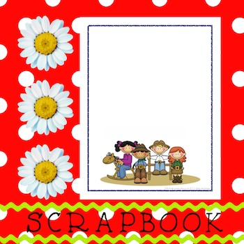 Scrapbook - Yearbook Cover Page: Cowboy Town