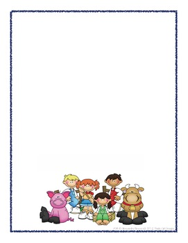 Scrapbook - Yearbook Cover Page: Farm Kids