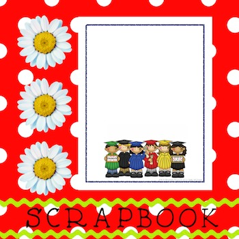 Scrapbook - Yearbook Cover Page: Grad Kids