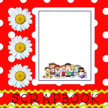 Scrapbook - Yearbook Cover Page: Paint Kids