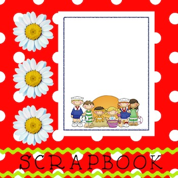 Scrapbook - Yearbook Cover Page: Sailor Kids