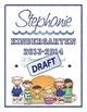 Scrapbook - Yearbook Cover Page: School Kids