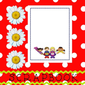 Scrapbook - Yearbook Cover Page: Super Kids