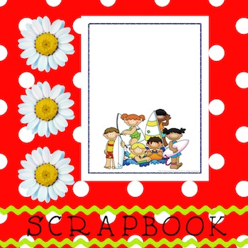 Scrapbook - Yearbook Cover Page: Surf Kids