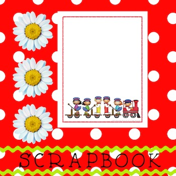 Scrapbook - Yearbook Cover Page: Trains and Toots