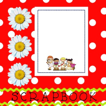 Scrapbook - Yearbook Cover Page: Valentine Kids