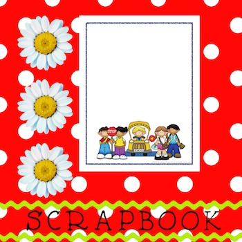 Scrapbook - Yearbook Cover Page: Wheels on the Bus