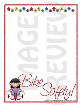Scrapbook - Yearbook Page: Bike Safety