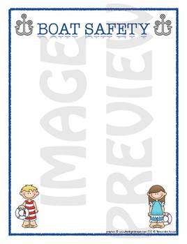Scrapbook - Yearbook Page: Boat Safety
