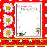 Scrapbook - Yearbook Page: Christmas 1 Boy with Wish List