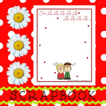 Scrapbook - Yearbook Page: Christmas 2 Boy and Girl Christmas Carolers!
