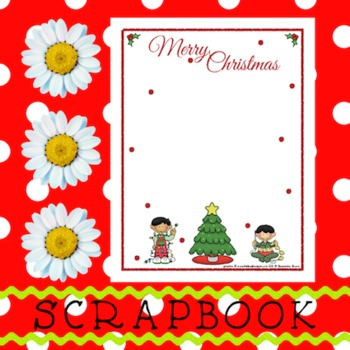 Scrapbook - Yearbook Page: Christmas 3 Boys Decorating Christmas Tree