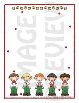 Scrapbook - Yearbook Page: Christmas 9 Christmas Boys