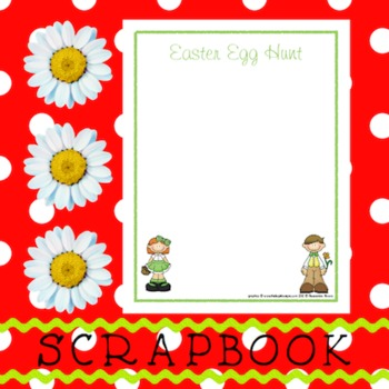 Scrapbook - Yearbook Page: Easter 3 Egg Hunt