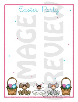 Scrapbook - Yearbook Page: Easter 4 Party