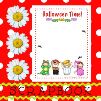 Scrapbook - Yearbook Page: Halloween 1 Kids in Costumes