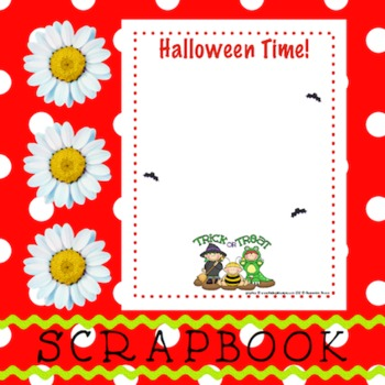 Scrapbook - Yearbook Page: Halloween 2 Trick or Treat
