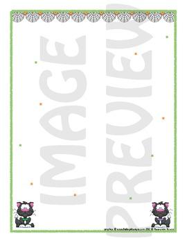 Scrapbook - Yearbook Page: Halloween 3 Cuttie Kitties