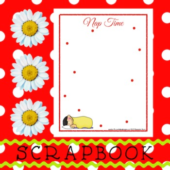Scrapbook - Yearbook Page: Nap Time