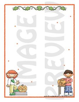 Scrapbook - Yearbook Page: Pumpkin Friends 1