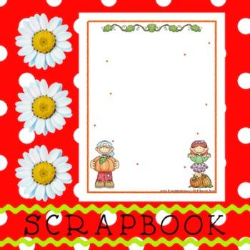Scrapbook - Yearbook Page: Pumpkin Friends 3