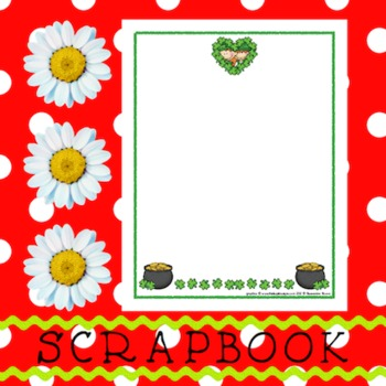 Scrapbook - Yearbook Page: St. Patrick's Day 2