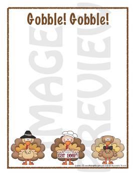 Scrapbook - Yearbook Page: Thanksgiving 2 Turkey Fun