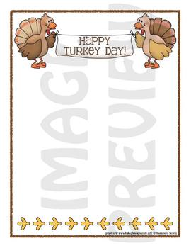 Scrapbook - Yearbook Page: Thanksgiving 3 Happy Turkey Day