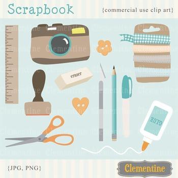 Scrapbook clip art, scrapbook clipart, camera clip art