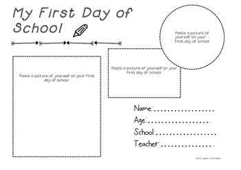 Scrapbook template- First day of school