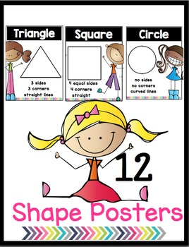 Scrappy 2-D Shape Posters