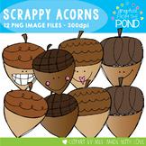 Scrappy Acorn Clipart Set