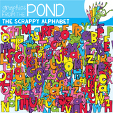 The Scrappy Alphabet Clipart