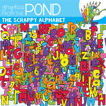 Scrappy Alphabet Clipart