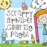 Scrappy Alphabet Picture Coloring Pages