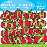Scrappy Apple Alphabet Clipart