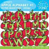 Scrappy Apple Alphabet Clipart