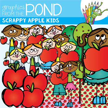 Apples - Scrappy Apple Kids Clipart