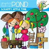 Apple Clipart - Scrappy Apple Time Clipart