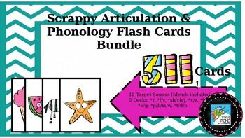 Articulation Flash Cards Bundle: 511 Cards, 18 Sounds