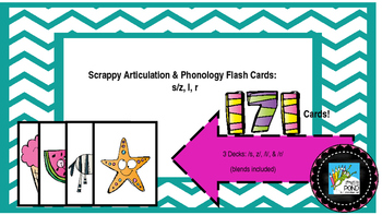 Scrappy Articulation and Phonology Flash Cards: R S Z L an