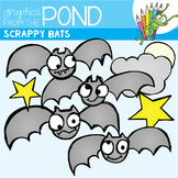 Scrappy Bats -  Clipart for Teachers and Halloween