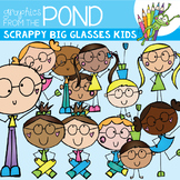 Scrappy Big Glasses Kids {Clipart}