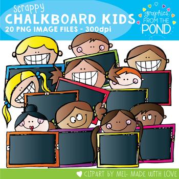 Scrappy Blackboard Kids / Chalkboard Kids