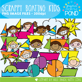 Scrappy Boating Kids Clipart