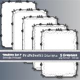 Scrappy Border Clipart Frames - Vector Graphics - {Madison Set 1}